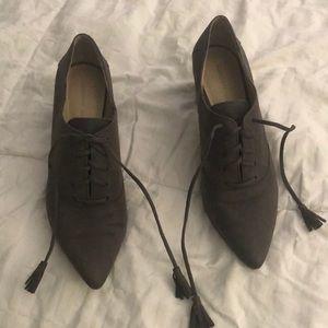 Dark Grey Suede boots